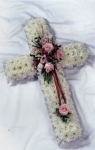 Firhouse funeral floral cross for delivery in the Artnae area
