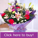 Mixed flower Tolka florist bouquet