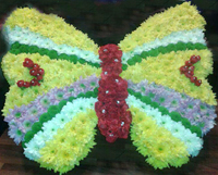 Wreath in the shape of a butterfly
