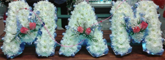Funeral wreath for sister