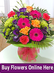 Multi-coloured flower bouquet